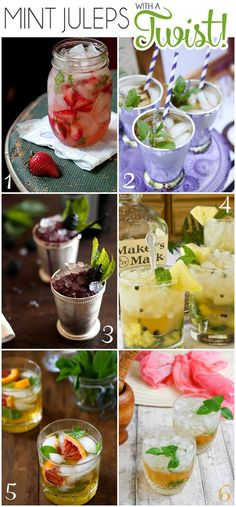 6 Mint Julep Recipes that are sure to get your party going.