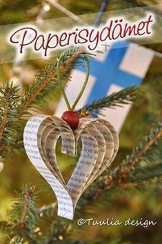 Kierrätys | Tuulia design. Iloa & Ideaa askarteluun ja käsitöihin! Christmas Crafts, Christmas Decorations, Christmas Ornaments, Holiday Decor, Diy And Crafts, Arts And Crafts, Paper Crafts, Christmas Paintings, Projects For Kids