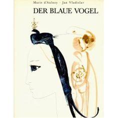 The Bluebird by Marie d'Aulnoy, illustrations by Mirko Hanák ( in German)