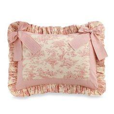 Glenna Jean Madison Toile Pillow Sham with Bow - BedBathandBeyond.com