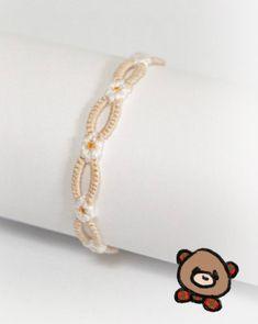 friendship bracelets - pattern from original daisy chain, modified split band