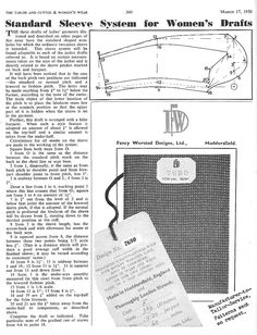 The Tailor and Cutter Ladies' Sleeve Block - posted in Womens Cutter and Tailor: For T&C ladies patterns I have recently posted there is a matching sleeve pattern they also suggest, though it was published separately: