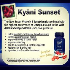 KYANI SUNSET ONLY THE BEST STUFF GOES INTO OUR SUPPLEMENTS. CONTACT ME TO JOIN MY TEAM https://sdowd.kyani.net/r/usa/en/main