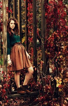Autumn Leaves & Beautiful Girl :)