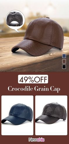 7582c37f Crocodile Grain PU Leather Baseball Cap #cap #mensfashion Leather Baseball  Cap, Clothes Line