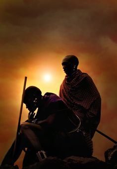 ♂ Sunset men African the thinker -foto in Kenia, door: johan ensing Out Of Africa, East Africa, Kenya Africa, African Beauty, African Art, African Tribes, African Safari, Art Beauté, Columbus Travel