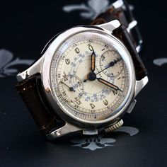 Proessionally Restored 1940s CHASE Watch Swiss Vintage Chronograph Venus Cal. 170