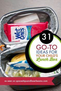 31 Lunchbox Essentials -- Go to Ideas for your Child's Lunchbox #WetOnes #Sp
