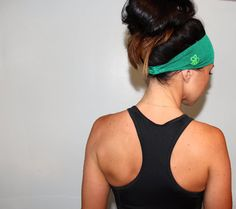 Manda Bee's Moisture Wicking Stretchy Running Headband in Amazon Green...perfect for yoga