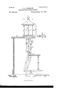 Patent US401406 - Construction of beer engines - Google Patents