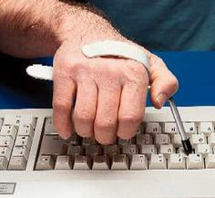 Keyboard Aid/Typing Aid for individuals with arthritis. This can also be used to work on fine motor skill development.