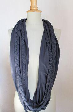 Schlauchschal aus Jersey // long loop scarf via DaWanda.com
