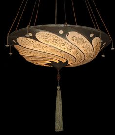 Beautiful Fortuny Silk Lamp from Italy. One of my favorites. I've ordered these for many clients