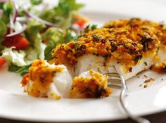 Oven-Baked Cod with an Organic Tomato Pesto Crust - Sacla Italian Recipes Cod Recipes Oven, Cod Fillet Recipes, Fish Recipes, Seafood Recipes, Healthy Recipes, Baked Cod Fillets, Oven Baked Cod, Pesto Rouge, Red Pesto