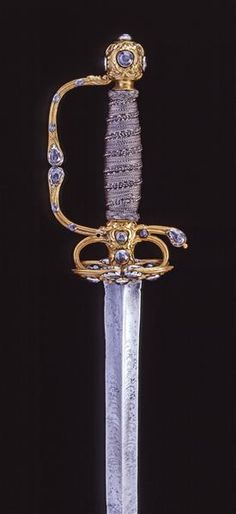 Smallsword the hat and sword set of Tsar Peter I of Russia Western European, ca. before 1698 . He ruled Russia from 1672-1725. Interestingly, he and his half brother, Ivan,  were crowned joint rulers until Ivan's death in 1696. He was married to twice: 1st - Endoxia Lopukhina and  2nd - Catherine I.