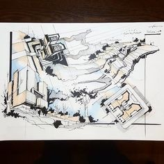 Fantastic technique from @dn.sadighi Anyone here from ? All featured artwork on this page are also featured on our website! See link in bio #ArchiSketcher
