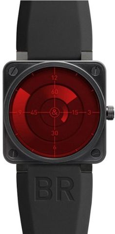 NEW BELL & ROSS AVIATION LIMITED EDITION AUTOMATIC MENS WATCH BR01-92-RED-RADAR: Watches: Amazon.com