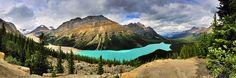 Peyto Lake Panorama by Bob and Lynn, via Flickr
