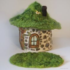 FELTED SOD ROOF GNOME HOME from Willodel