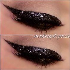 Black eyeliner. With sparkles