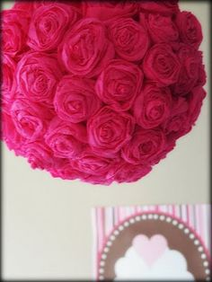 39 easy diy party decorations flower ball wedding table crepe paper rose pom tutorial mightylinksfo