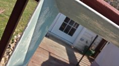 """My Annie Sloan Makeovers!  (2nd picture - close up) Vintage mirror (large!) painted in old white with Duck Egg Blue on the interior of the frame.  Distressed (for a """"beachy"""" effect) and clear wax.  <3  #anniesloan #ChalkPaint"""
