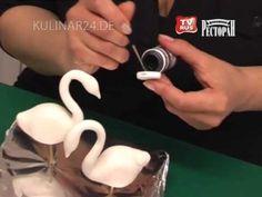 Украшение свадебного торта Лебеди Kulinar24TV