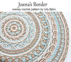 Joana's Mandala and Border - overlay #crochet pattern for sale by Lilla Bjorn Crochet