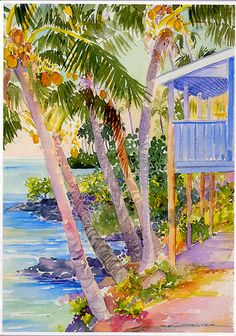 Beach houses in the Tropics by Sue Stagner