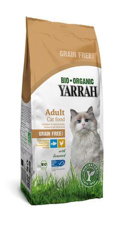 Yarrah Graanvrij droog kattenvoer is onweerstaanbaar lekker. De heerlijke geur van biologische kip en MSC vis trekt zelfs de meest kieskeurige kat over de streep. Deze producten zijn uiteraard geschikt voor alle katten, maar is speciaal ontwikkeld voor katten die wat moeite hebben met het verteren van granen. Beschikbaar in zakken van 800g and 3kg.
