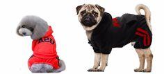 Dog Fleece Hoodie Coats