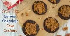 Grain Free German Chocolate Cake Cookies - Living Low Carb One Day At A Time