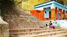 On the ghats of Banaras, humans and animals relax alike