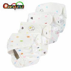 2c6d255aa HAZ CLICK EN LA IMAGEN - Pañales reutilizables para bebé de algodón puro  pañales impermeables lavables pañales de tela cubierta para niño niña ropa  interior ...