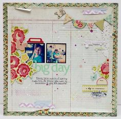 A scrapbook page... I want to attempt this in digital...