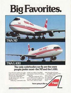 TWA 747 & L1011. My 2 favorite planes!