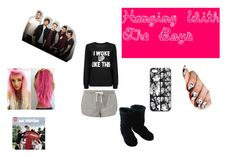 """""""Hanging with the boys"""" by laura-marie-rogers123456 ❤ liked on Polyvore featuring Polar Feet, women's clothing, women's fashion, women, female, woman, misses, juniors, OneDirection and harrystyles"""