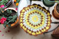 Crochet mandala Amigurumi Food