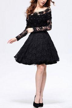 Cape Top Design Lace Dress