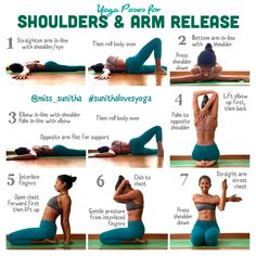 Yoga Poses for Shoulders and Arm Release.  @miss_sunitha #sunithalovesyoga