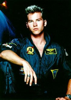 """A young Val Kilmer (back in his """"Top Gun"""" days)"""