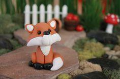 Polymer Clay Fox  Miniature Fox  Mini Clay Fox  Fairy
