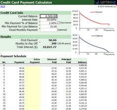 how to calculate credit card interest in excel