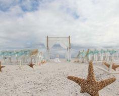 Florida beach wedding perfection from Suncoast Weddings in subtle aqua
