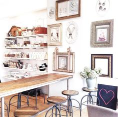 Often described as many people's happy place, we invite you to our cafes today to indulge in something sweet and decadent! Thanks for the photo. Cute Coffee Shop, Best Coffee Shop, Coffee Shops, Sushi Buffet, Small Restaurant Design, Vintage Stool, Kitchen Humor, Commercial Kitchen, Ceiling Design