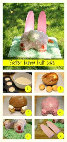 easter bunny butt cake-peasinpods
