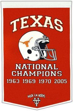 Texas Longhorns Winning Streak Dynasty Banner