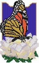 Monarch Butterfly Necklace Pattern at Sova-Enterprises.com Lots of Free Beading Patterns and Tutorials!