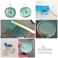 Create Debora Mauser's simple 2 part resin earrings using Nunn Design products