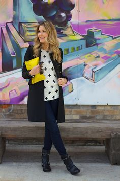 A Gap clutch as featured on the blog Mink & Ivory.